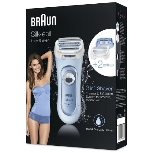 Braun Silk-épil Lady Shaver 3-in-1 Wet & Dry Electric Battery Cordless - LS5160