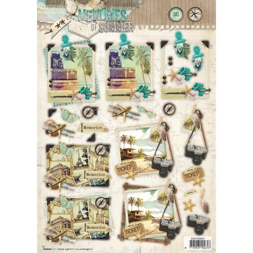 Studio Light Memories Of Summer Easy 3D Punched Sheet A4-