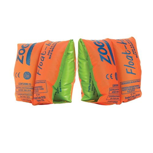 Zoggs Swimming Aid Children's Float Arm Bands - Orange, 6-12 Years up to 50 kg