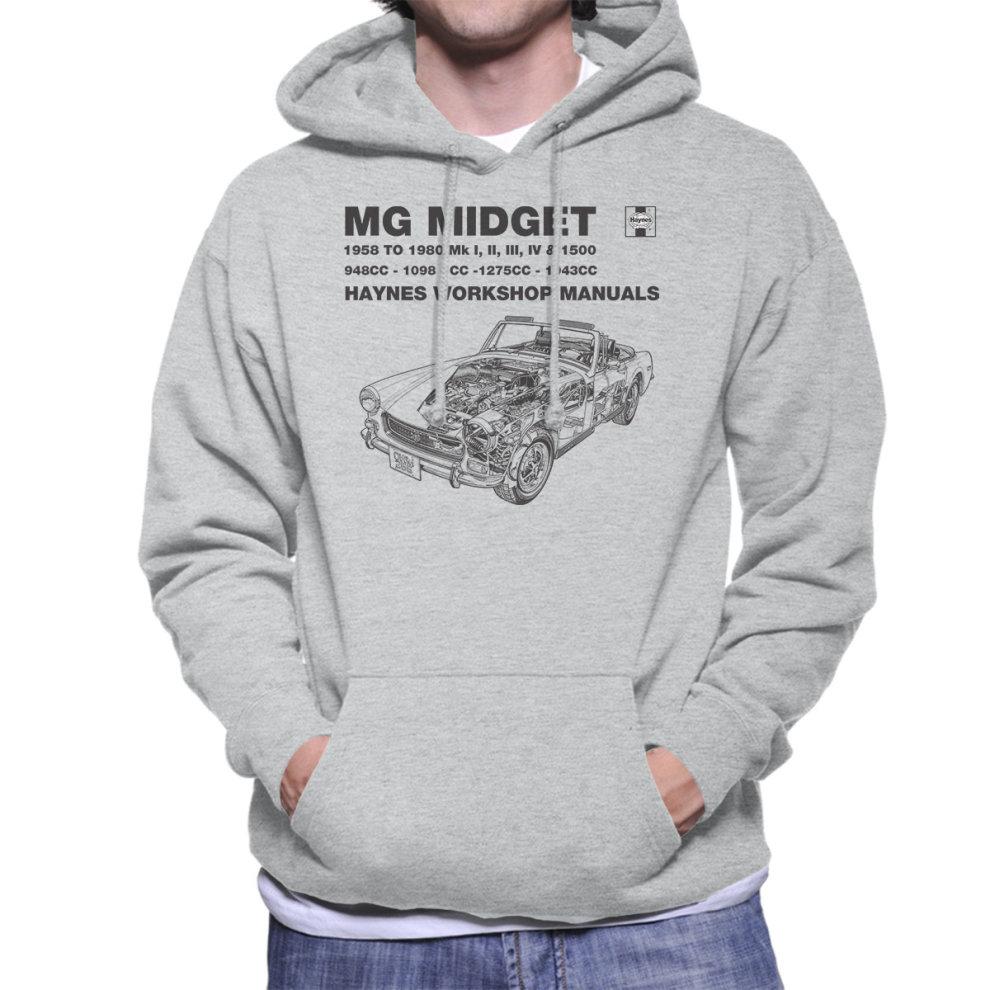 Haynes Owners Workshop Manual 0265 MG Midget 948 to 1275cc Black Men's  Hooded Sweatshirt ...