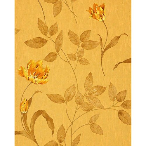 EDEM 769-32 wallpaper floral luxury flowers ochre yellow gold olive | 5.33 sqm