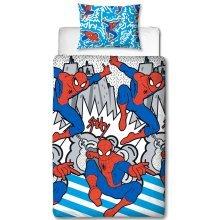 Spiderman Popart Single Duvet Cover Set Polyester