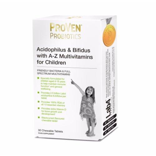 Proven  Lactobacillus & Bifidus A-Z Multivits Child Tablets 30s