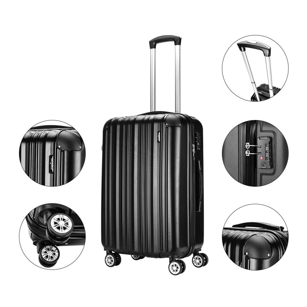 Cabin Luggage Super Lightweight ABS Hard Shell Travel Carry On Trolley 4  wheels Suitcase, Approved for EasyJet, British Airways, Virgin Atlantic,