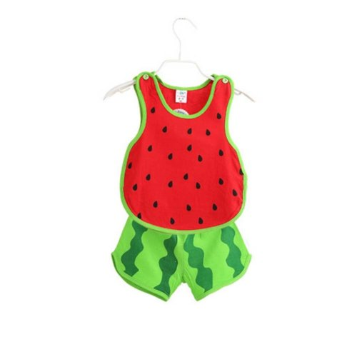 Sleeveless Watermelon Baby Suit Kids Cloth,110cm