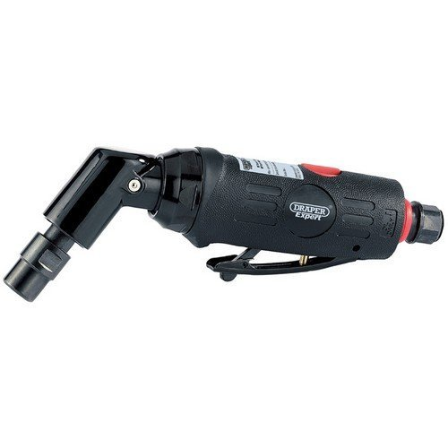 Draper 47564 Expert 6mm Compact Soft Grip Air Angle Die Grinder with 115° Head