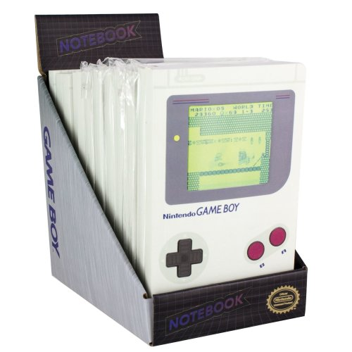 Nintendo Retro Cool Console Original Game Boy Icon Moving Gaming Notebook