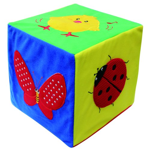 Tactile Sensory Cube Toy - Different Soft Materials on Each Side - School Autism