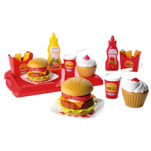 Ecoiffier Hamburger Set (25-Piece, Multi-Colour)