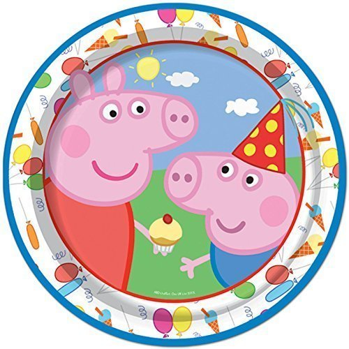 8 Peppa Pig Cute Carnival Birthday Children S Party Paper Plates