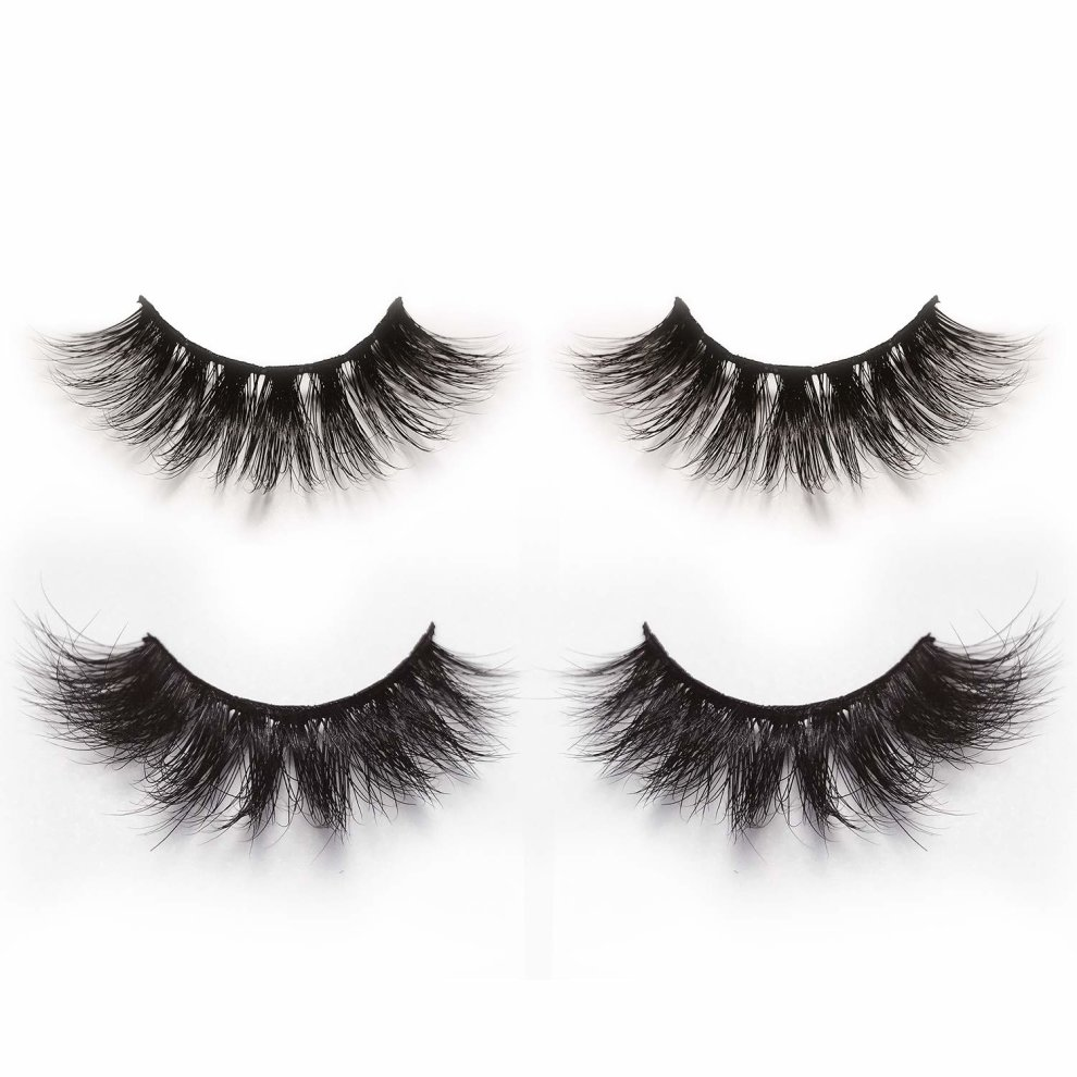 d2d64ae4e15 3D & 4D False Eyelashes Pack of 2 Pairs,Alluring Long & Thick Handmade Fake  Lashes in Dramatic & Natural Look Style on OnBuy