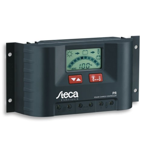 Steca Solar Panel Charge Controller/Regulator with LCD Display and Direct Output for 12V Loads up to 20, Pack of 1, PR2020