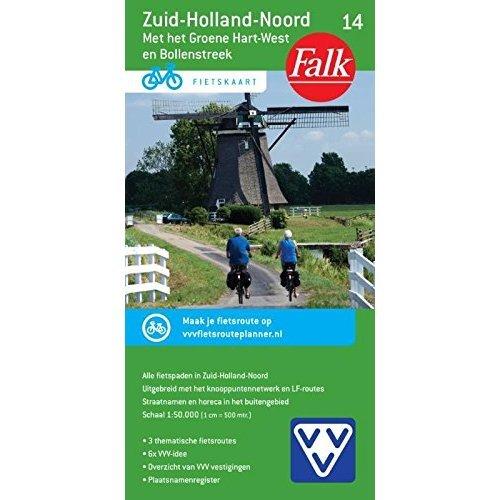 Zuid-Holland Noord 14 cycle map (Falkplan fietskaart)
