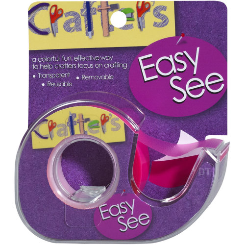 "Lee Products Crafter's Easy See Removable Tape .5""X720""-Pink"