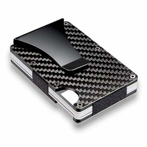 Carbon Fibre Wallet Aluminium Metal Wallet & RFID Blocking Card Holder
