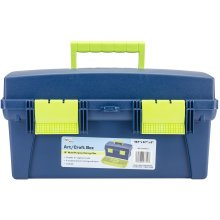 "Pro Art Storage Box W/Lift-Out Organizer Tray-16""X8.25""X8.25"" Blue & Green"