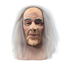 Creepy Old Man Mask with Hair