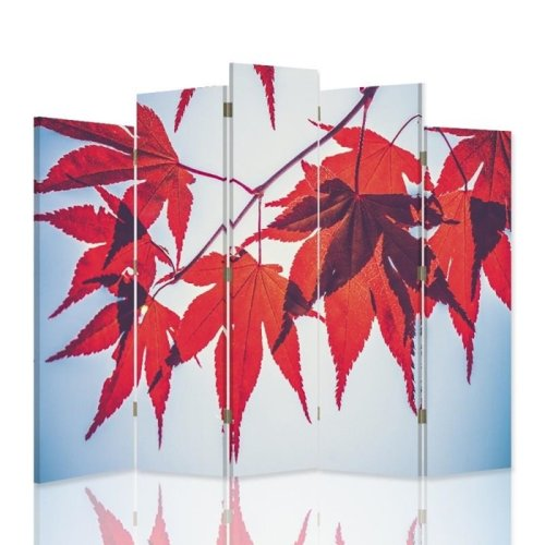Red Autumn Screen/Room Divider cm. 180x180 (5 panels)