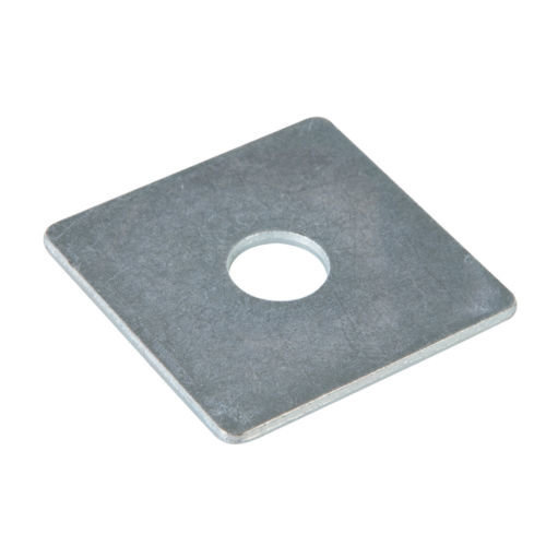 Fixman 542862 Square Plate Washer 10pk 50mm x M12, Silver - M12 -  fixman 542862 square plate washer 10pk 50mm m12