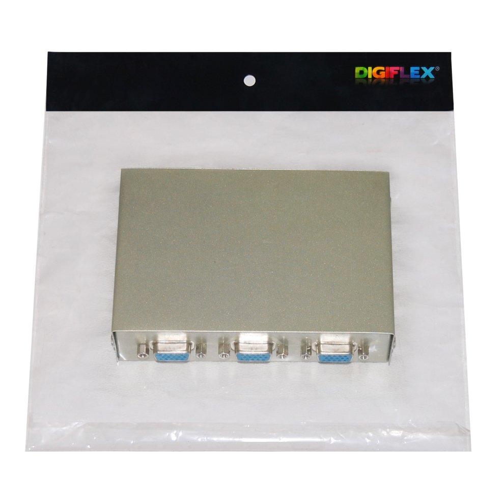 Digiflex Vga Svga Lcd Tft Crt Monitor 2 Port Way Splitter Switch Box 4