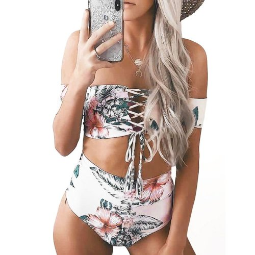 Free Floral Print Sexy Summer Women Bikini Set