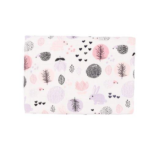 Soft & Cozy One Layer Muslin Cotton Baby Swaddle Blanket, Burpy Clothes for  Deep Sleep, 100x140cm Stroller Blanket for Unisex Newborn (Rabbit)