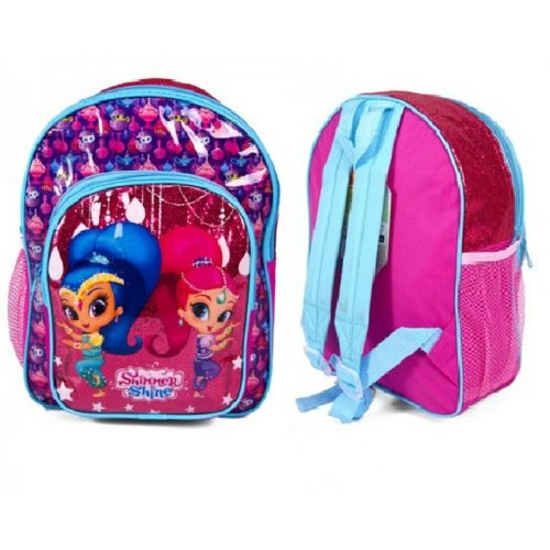 Girls Shimmer & Shine Deluxe Backpack with Front Pocket