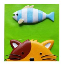 [Kitty&Fish] Cartoon 3D Paint-By-Number Kits Kids DIY Painting Crafts,Over 5Y