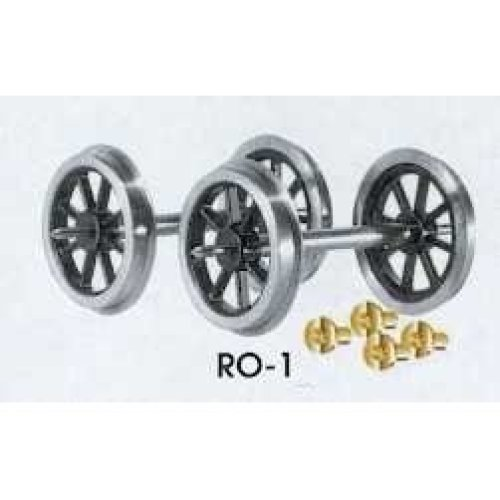 O gauge Spoked Wagon Wheels & Bearings - Peco RO-1 - F1