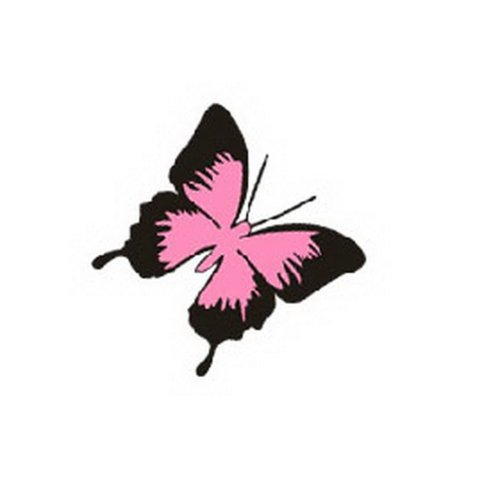 """Butterfly Car Decal Stickers Free Decals BLACK And PINK, set of 3(3.9"""")"""