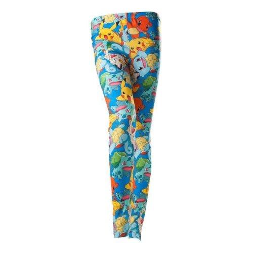 Pokemon Leggings with Pikachu Squirtle Charmander Bulbasaur Multi colour XL