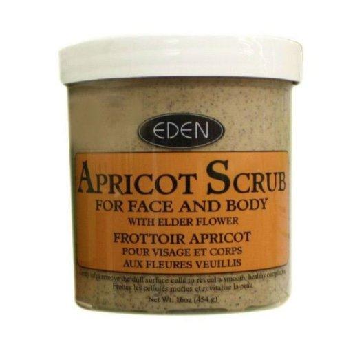 Eden Apricot Scrub For Face & Body 16ozg