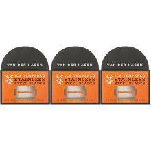 Van Der Hagen Stainless Steel Double Edge Razor Blades, 5 Count (Pack of 3)