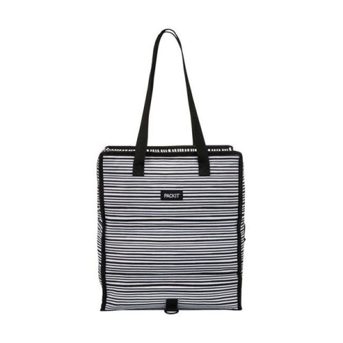 Packit 8963274 Packit Freezable Black & White Striped Cooler Bag, Assorted
