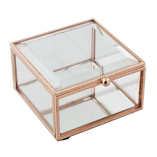 Hestia Rose Gold Jewellery Box Small