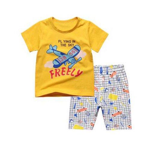 Boys Rocket Pajamas Soft Cotton Kids Sleepwear Summer Pajamas