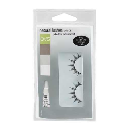 QVS Spiked False Lashes for Day Wear with Glue
