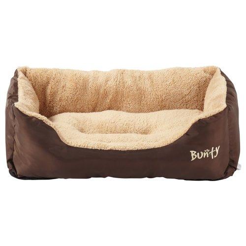 (Brown, X-Large) Bunty Deluxe Dog Bed | Soft Fleece Pet Bed