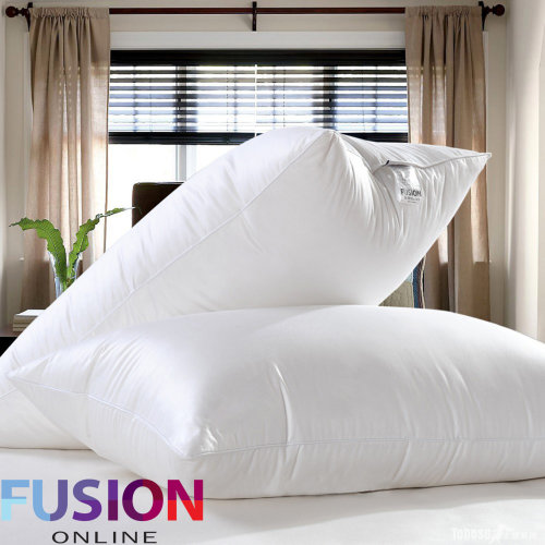 Luxury Goose Feather And Down Pillows, Comfortable Hotel Quality Pack of 4