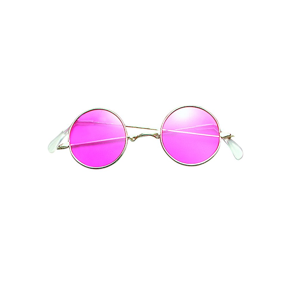 73a1a4b081 Pink Lennon Round Sunglasses - Fancy Dress Glasses Festival Hippy New Party  - fancy dress glasses.