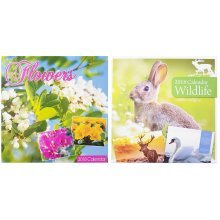 2018 Flowers Wildlife Square Wall Calendar Wild Animals Blooms Summer Christmas Birthday Gift Home Office