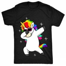 8TN Dabbing Unicorn Cool Sun glasses Dab Mens T Shirt