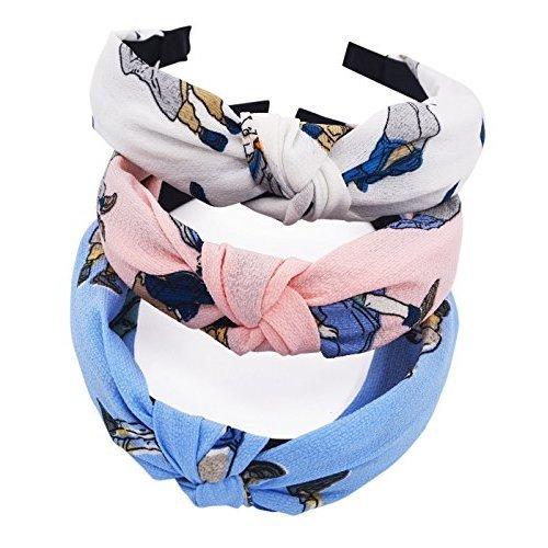 STHUAHE 3PCS Hair Bands,Women Handmade Lovely Style Cloth Cross Knot Hair Hoop Hairband Headband Headwear Hair Accessories by Beauty Hair (3 color)