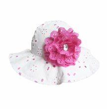 Summer Baby Girl Caps Cotton Sun Hat For 4-5 Years Baby White