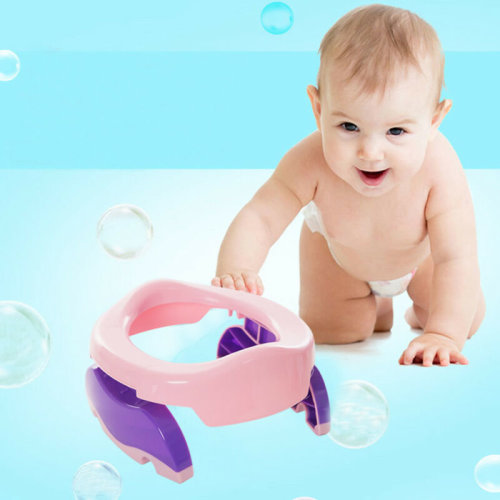 Kids Potty Training Travel Portable Foldable Toddler Toilet Safe Seat Plastic