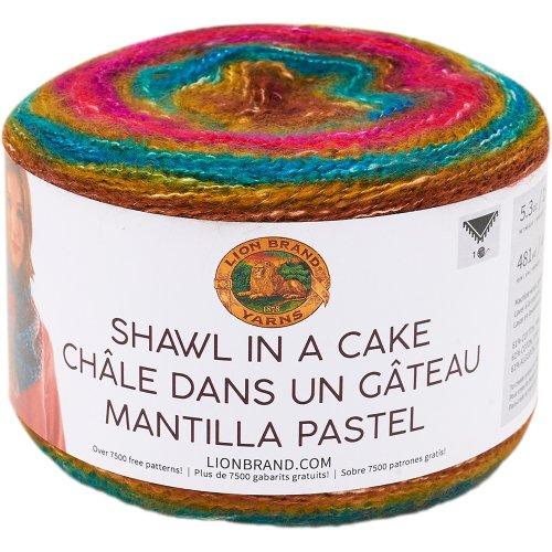 Lion Brand Shawl in a Cake Yarn-Crown Jewels