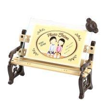 "Creative Bear/Chair Table-top Frames Decor Resin Photo/Frames 6.8*4.9"" Brown"