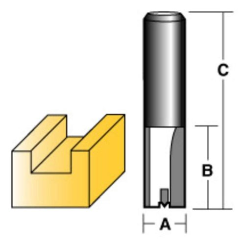 "CARBITOOL STRAIGHT ROUTER BIT 16MM 1/2"" SHANK"