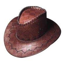 PU Western Cowboy Hat for Men Fashion Cowboy Hat [Maroon]