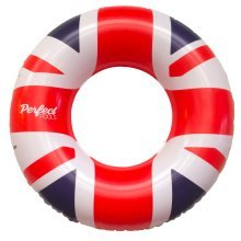 Official 'Perfect Pools' Inflatable Giant Union Jack Flag Rubber Ring | Swimming Pool UK Flag Float 110cm